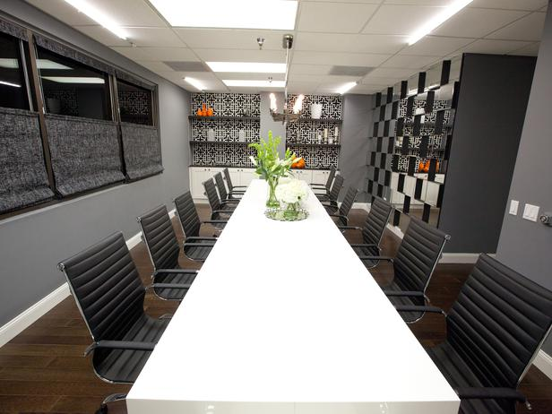 AFTER: Britany and Mikel create a stunning conference room.