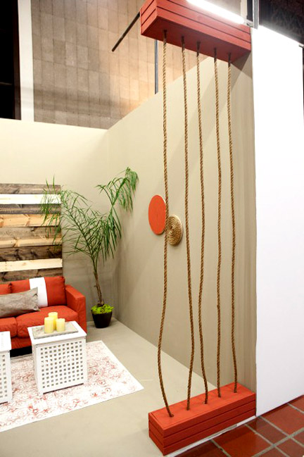"""Mikel Welch created rope """"walls"""" to frame his entry."""