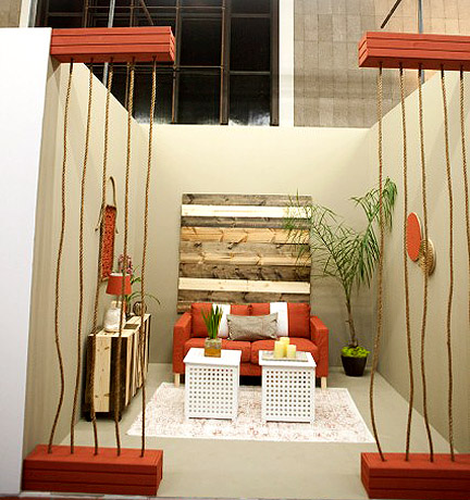 Mikel Welch's rustic white room.