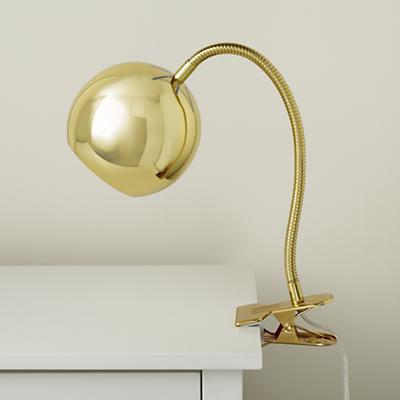 Modern Clip Lamp in Gold, $59.