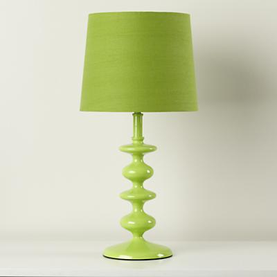 Checkmate Table Lamp Base in Green, $59. (Shade sold separately here too, BOO!)