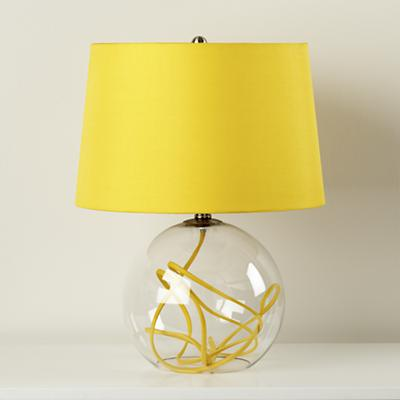 Crystal Ball Table Lamp in Yellow, $149.