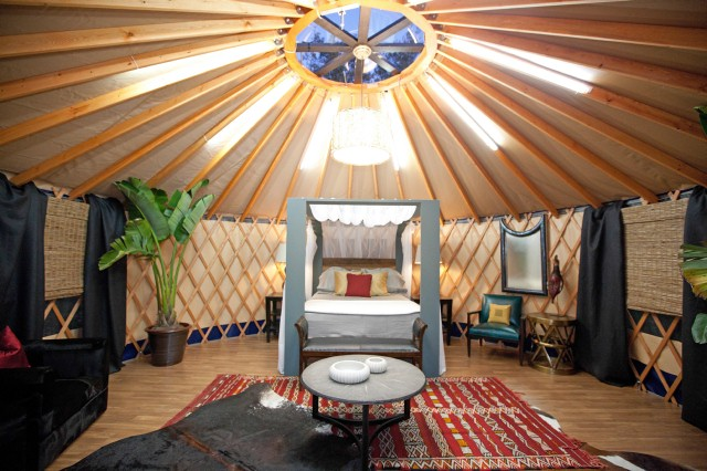 Danielle Colding's bland yurt.