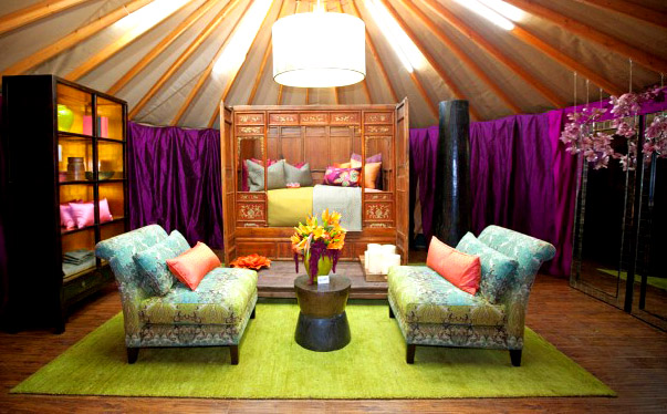 Hilari Younger's luxurious yurt design.