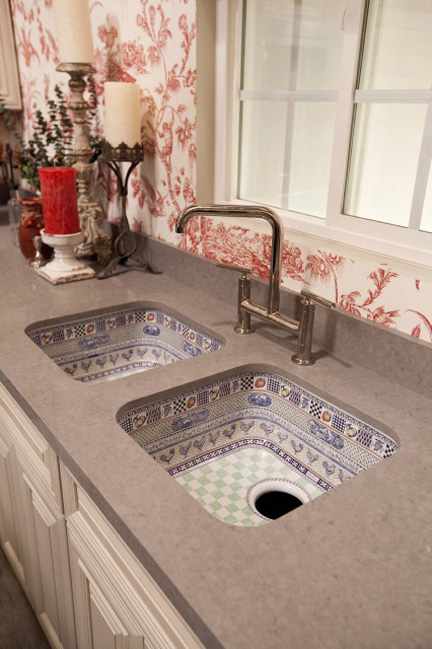 No wonder Kohler no longer displays this ugly sink on their website.