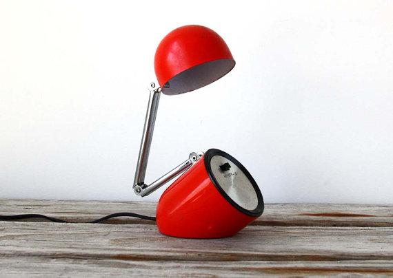 Mod red bullet lamp, $48.