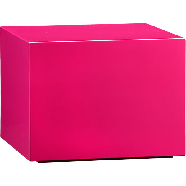 City Slicker Side Table in Hot Pink, $199.