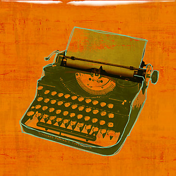 Digital Deco Typewriter Giclee, $139.95.
