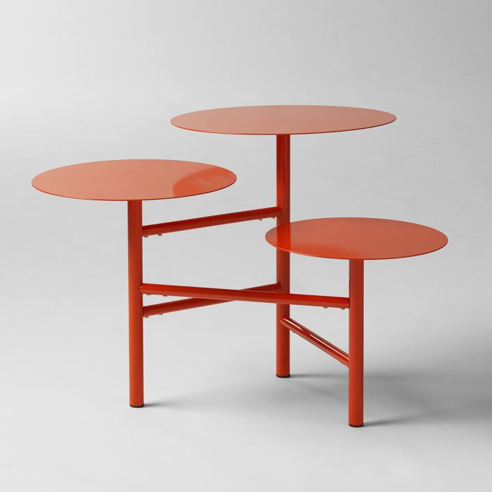 Layered Side Table in Poppy, $149.