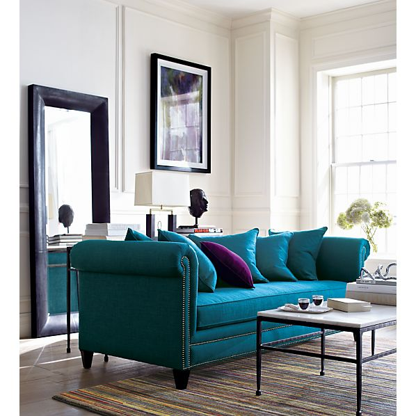 Tailor Sofa in Tess: Peacock, $1,699.