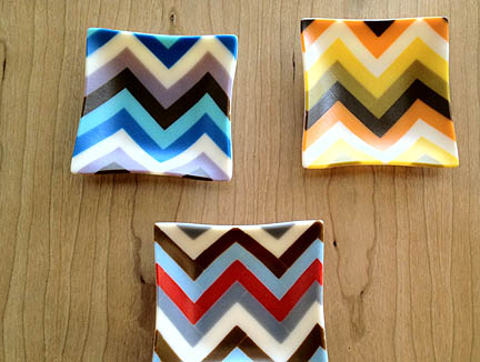 Small Fused Glass Chevron by Lori Linder (Austin), $40.