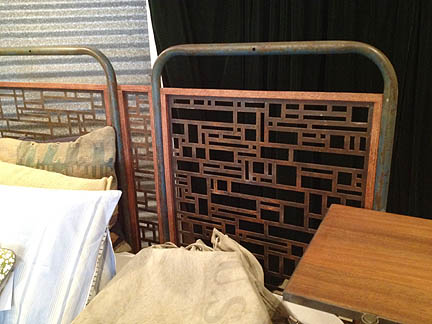 Steel/Mahogany Queen Bed by Petrified Design (Austin), $3,800.