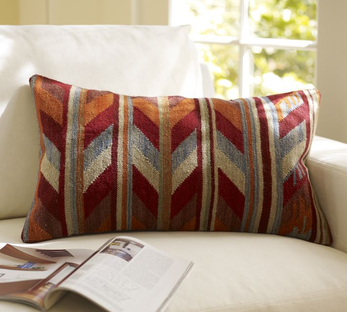 Pottery Barn's Kilim Chevron Pillow Cover, $49.50.