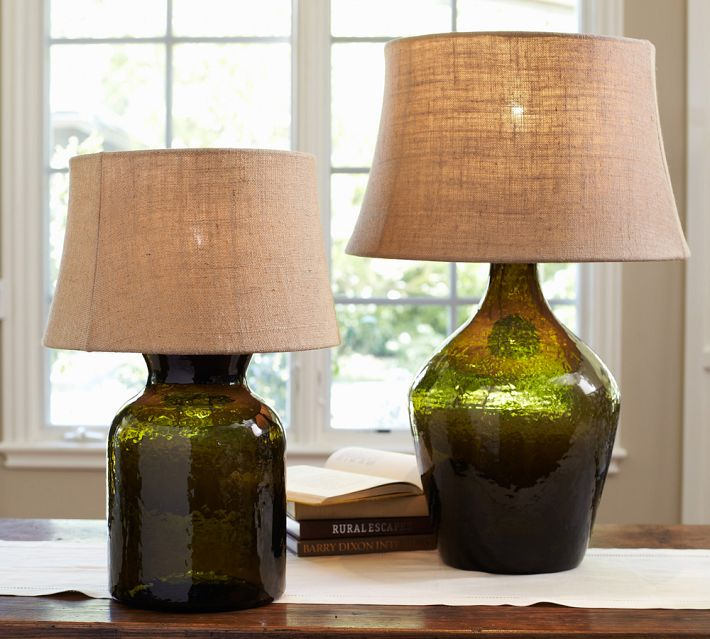 Clift Glass Table Lamp Base in Green, $120-$170.