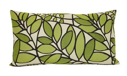 Target's Woven Leaf Oblong Pillow, $19.99.