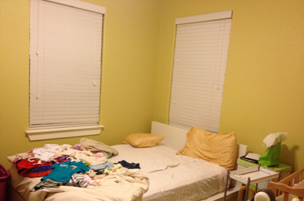 "This is Neesha's guest bedroom ""BEFORE"" shot."