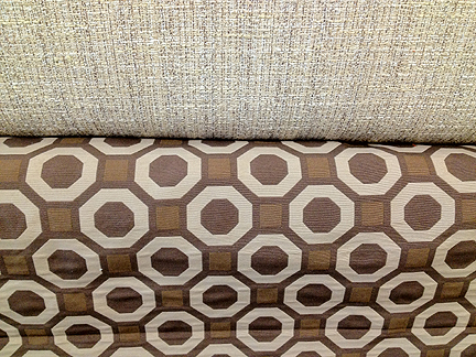 modern-fabric-geometric-brown-chocolate-beige-tweed-mid-century-octagon