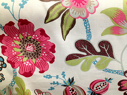 modern-floral-bolt-fabric-pink-green-brown-blue-turquoise-aqua-white-leaf