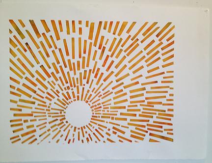 Satch Grimley sunset print starburst