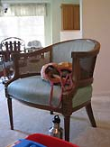 before-austin-family-room-mid-century-cane-chair