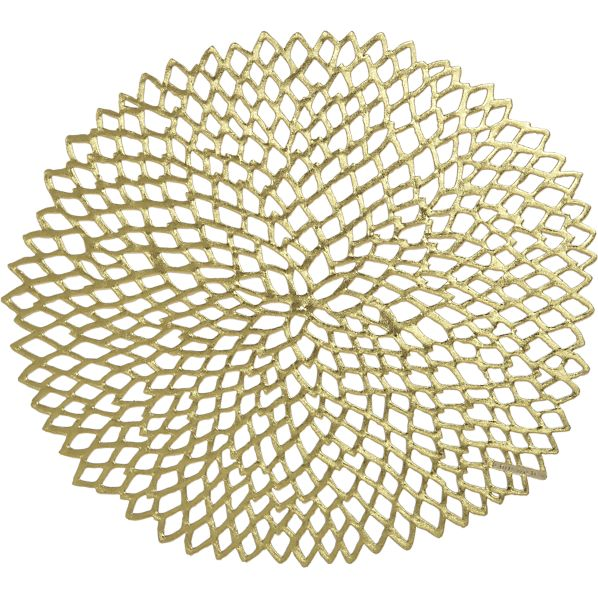 Chilewich Dahlia Placemat in Gold, $9.95 @ Crate & Barrel.