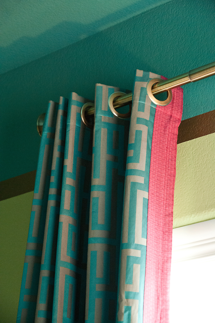 AFTER: Custom curtains provided by Lush Livings, curtain rods installed by My Austin Handyman.