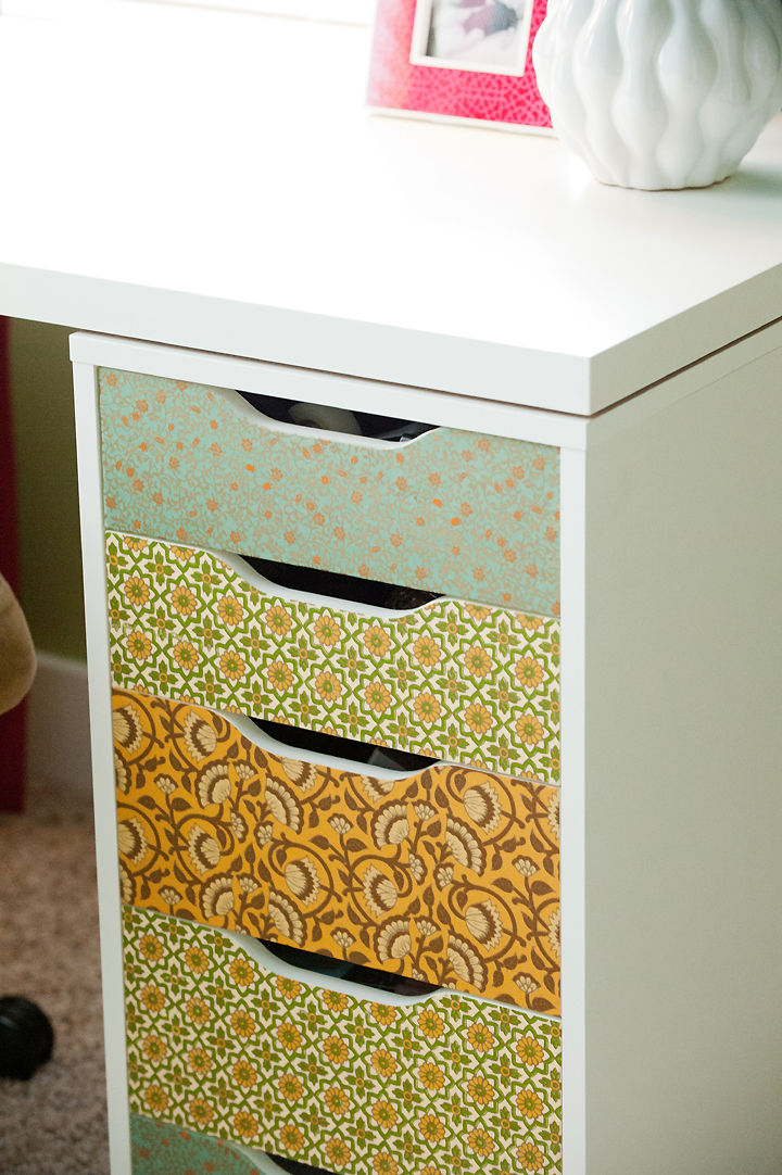 desk-drawers-indian-paper-detail gold yellow aqua craft