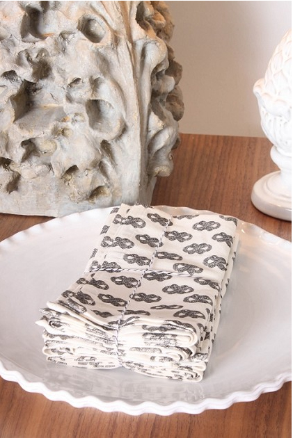 Signature Print Napkins, Set of 4: $60 @ Mockingbird Domestics.