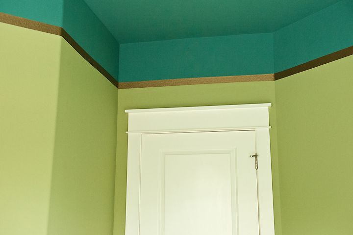 paint-treatment teal gold lime green