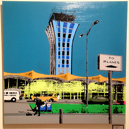 Austin's Mueller airport in its heyday, as depicted by silkscreen artist Patrica Chapa.