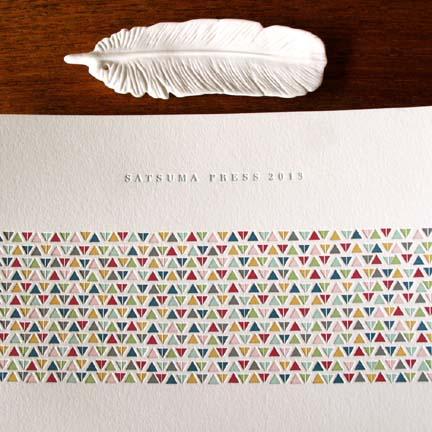 Letterpress goods from Satsuma Press.