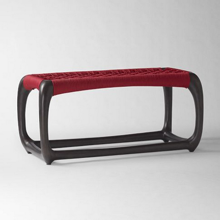 John Vogel Bench in Red/Chocolate, on sale for $299 (reg. $499).