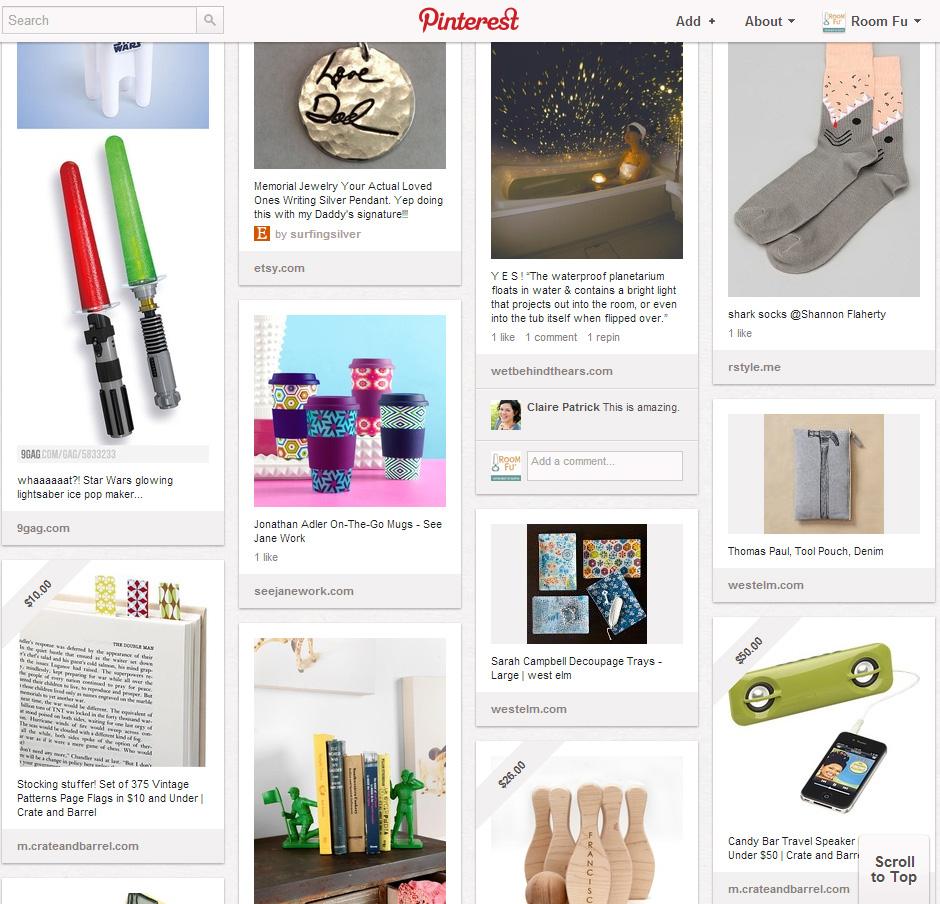 Room Fu's Pinterest Gift Guide board.