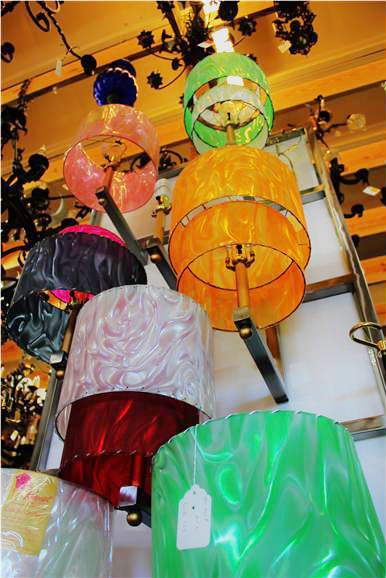 RoseArt Lampshades, available at D&W Lighting in Austin, TX.