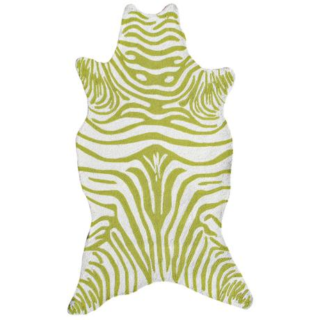 Green Zebra Indoor Outdoor Rug