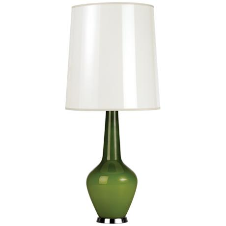 Jonathan Adler Capri Tall Green Glass Table Lamp