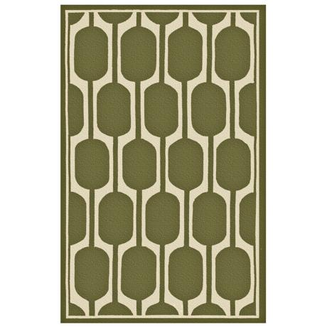 Perpetua Green Indoor Outdoor Rug