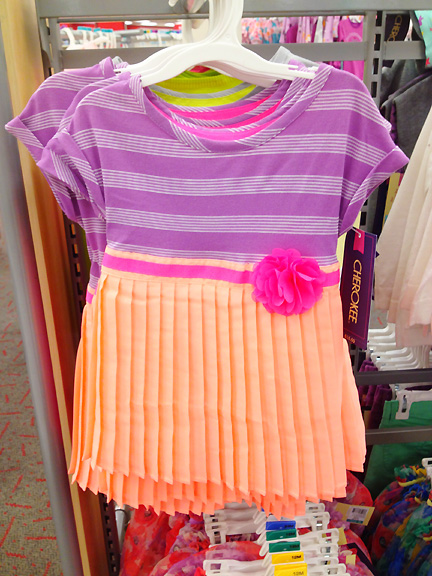 Orange and purple girl's dress at Target.