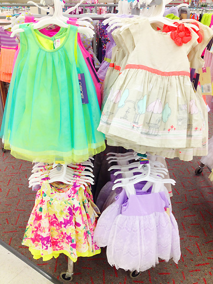 More girl's dresses at Target.