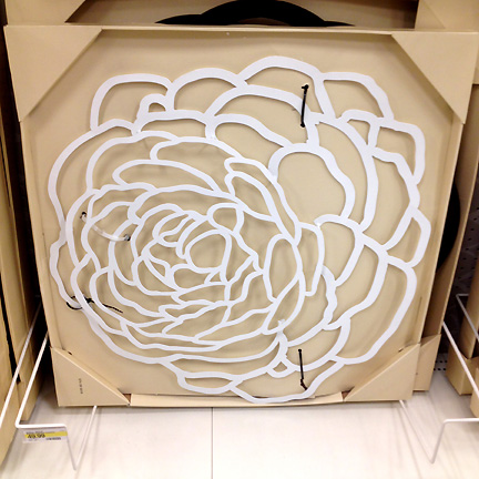 Mod floral white metal cutout art at Target