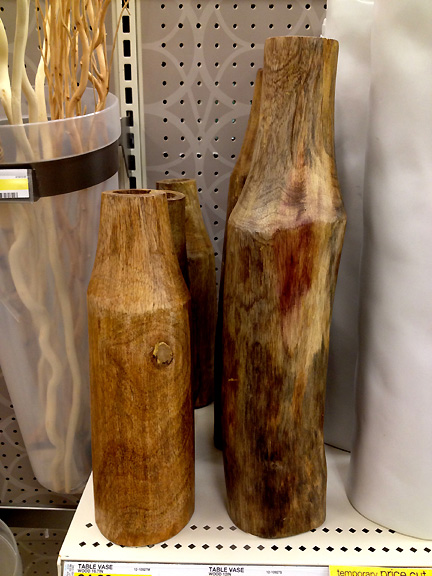 Wooden vases from Target