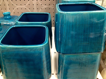 Modern teal ceramic accessories at Target.
