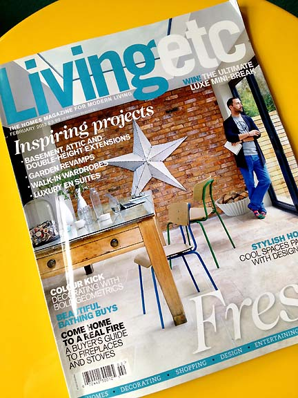 Cover of the February 2013 issue of the UK magazine, Livingetc.