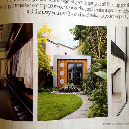 A modern garden shed, as featured in Livingetc's February 2013 issue.