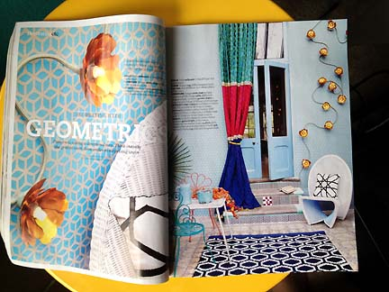 Spread in Livingetc February 2013 issue of the UK home decor magazine.