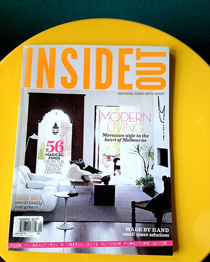 Australia Inside Out home decor magazine Jan Feb 2012