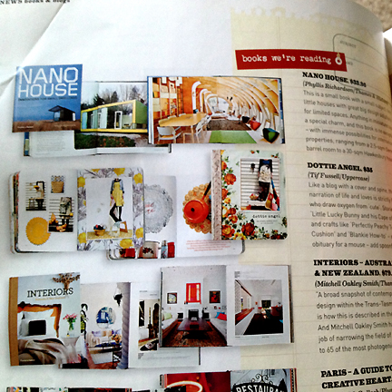 Recommended list of home decor and interior design books featured in Australia's Inside Out magazine.