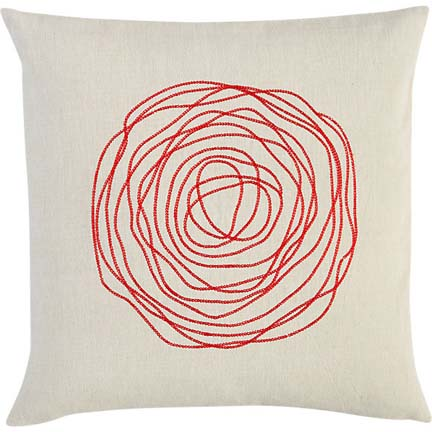 Rose embroidered pillow from cb2.