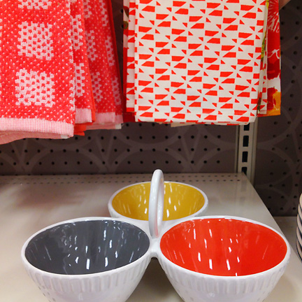 Gray, yellow and orange serving bowl by Threshold at Target.