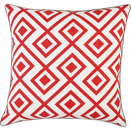 Red Diamonds Pillow from CB2, $34.95.